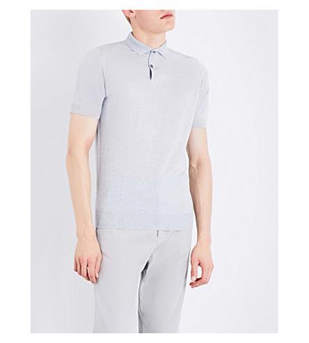 JOHN SMEDLEY Payton wool polo shirt (Bardot+grey