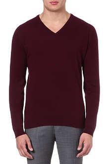 JOHN SMEDLEY Cashmere v-neck jumper