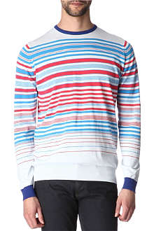 JOHN SMEDLEY Long-sleeved striped jumper