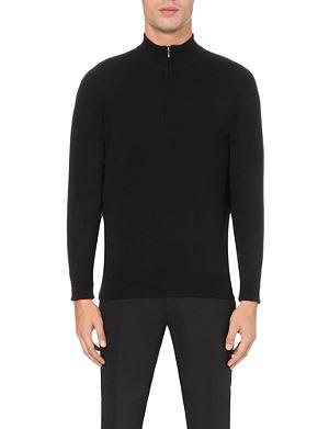 JOHN SMEDLEY Wyvern half-zip merino wool jumper