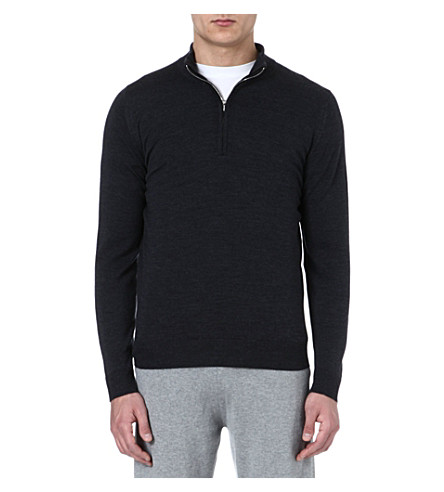 JOHN SMEDLEY Extra fine merino jumper (Charcoal