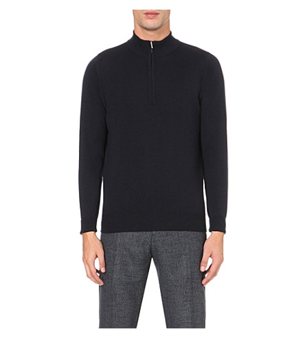 JOHN SMEDLEY Wyvern merino wool jumper (Midnight