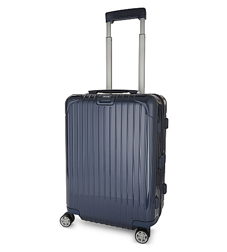 RIMOWA Salsa Deluxe Cabin four-wheel polycarbonate suitcase (Yatching+blue