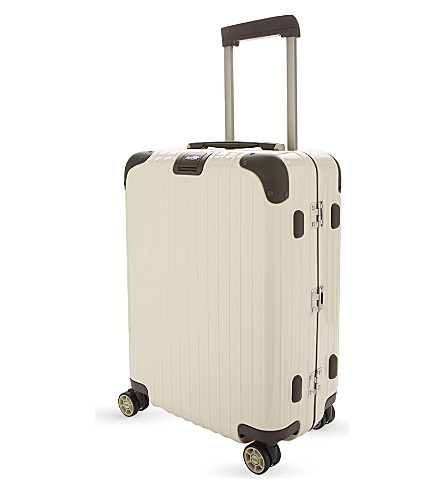 RIMOWA Cabin multi-wheel suitcase 55cm (Creme+white