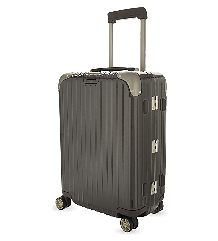 RIMOWA Cabin multi-wheel suitcase 55cm (Granite+brown