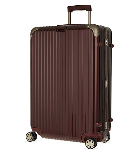 RIMOWA Limbo four-wheel suitcase 81cm (Carmona+red
