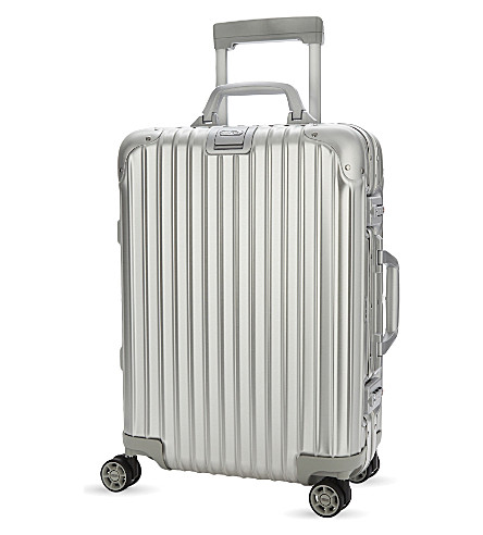 RIMOWA Topas four-wheel cabin suitcase 55cm (Silver