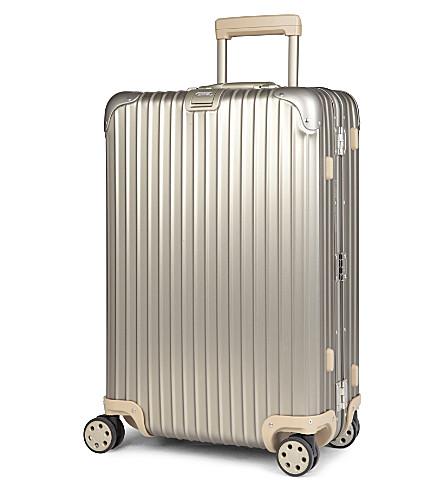 RIMOWA Topas four-wheel titanium suitcase 68cm (Titanium