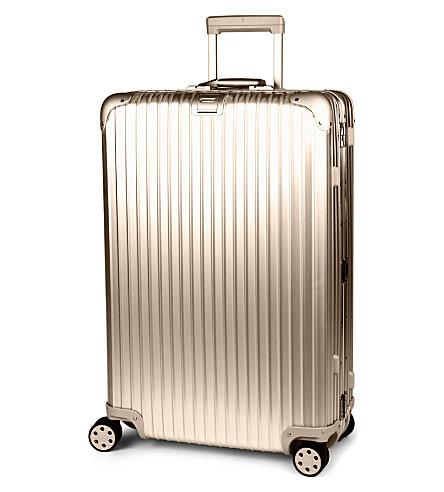 RIMOWA Topas four-wheel titanium suitcase 78cm (Titanium