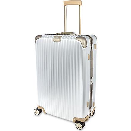 RIMOWA Topas titanium multi-wheel suitcase 82cm (Silver
