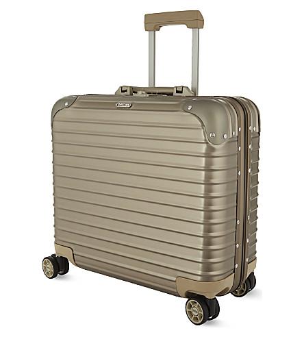 RIMOWA Topas aluminium business cabin case 40cm (Titanium