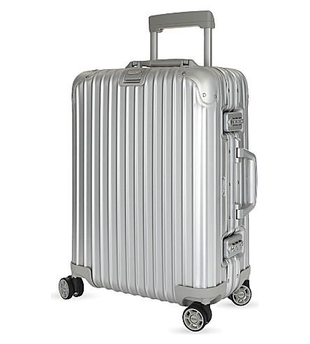 RIMOWA Topas aluminium four-wheel cabin suitcase 55cm (Silver