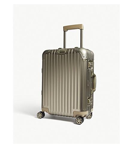 RIMOWA Topas multi-wheel suitcase 55cm (Titanium