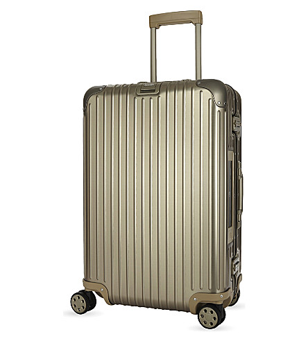 RIMOWA Topas Titanium E-tag four-wheel suitcase 66cm (Silver/gld