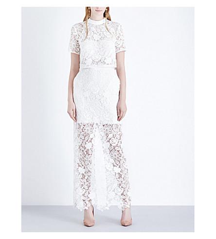 SELF-PORTRAIT Marcela guipure-lace wedding dress (White