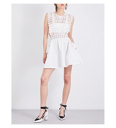 SELF-PORTRAIT Floral Vine mini dress (White