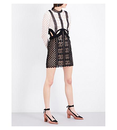 SELF-PORTRAIT Payne cutout mini dress (Black+white