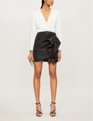 Ruffled crepe dress
