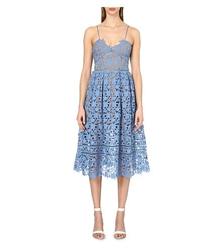 SELF-PORTRAIT Azaelea lace dress (Blue