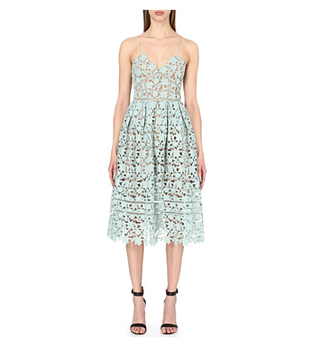SELF-PORTRAIT Azaelea lace dress (Mint green