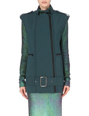 SELF-PORTRAIT Longline biker jacket
