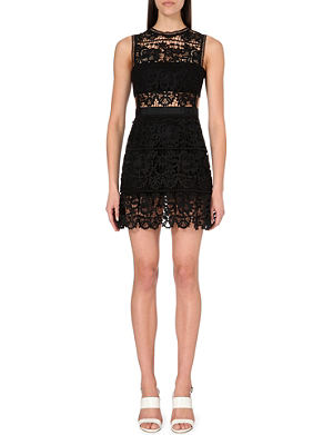 SELF-PORTRAIT Embroidered-lace dress