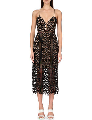 SELF-PORTRAIT Arabella lace midi dress
