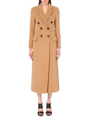 SELF-PORTRAIT Longline double-breasted coat
