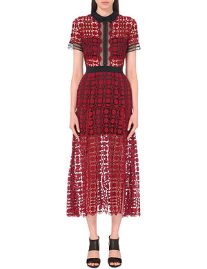 SELF-PORTRAIT Embroidered lace dress
