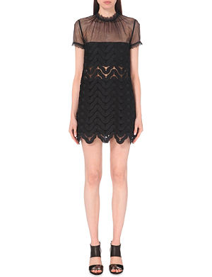 SELF-PORTRAIT Evie embroidered lace dress