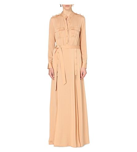 SELF-PORTRAIT Militaire crepe maxi dress (Camel