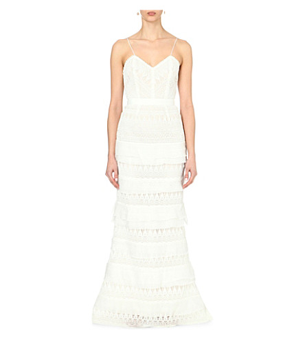 SELF-PORTRAIT Penelope lace-embroidered wedding dress (White