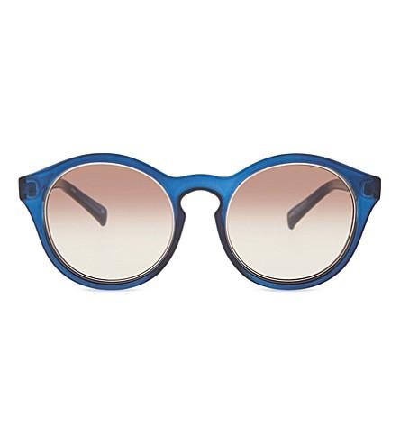 SELF-PORTRAIT Le Specs Edition Four sunglasses (Matte rose gold