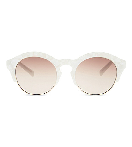 SELF-PORTRAIT Le Specs Edition Five sunglasses (White marble gold