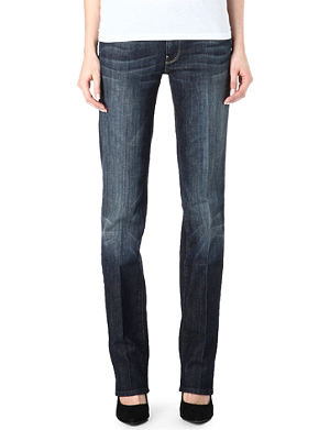 7 FOR ALL MANKIND Straight-leg mid-rise jeans