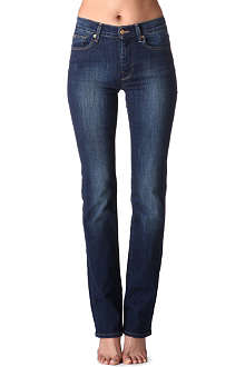 7 FOR ALL MANKIND Straight-leg high-rise jeans
