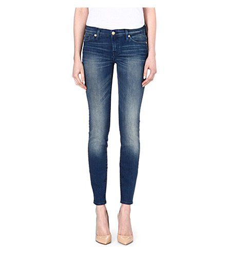 7 FOR ALL MANKIND The Skinny mid-rise jeans (Dakota+mid