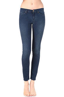 7 FOR ALL MANKIND The Skinny jacquard mid-rise jeans