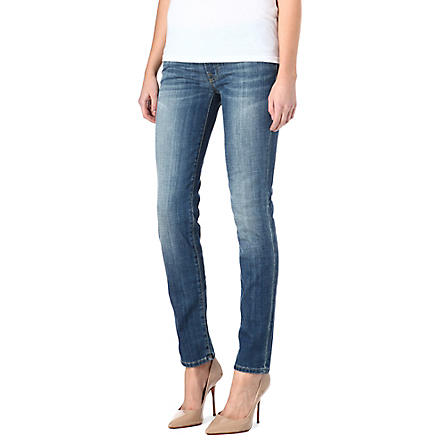 7 FOR ALL MANKIND Roxanne classic skinny mid-rise jeans (Toronto+light