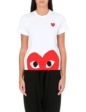 PLAY Heart-print cotton-jersey t-shirt