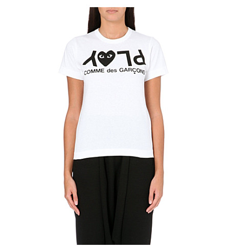 COMME DES GARCONS PLAY Heart logo t-shirt (White