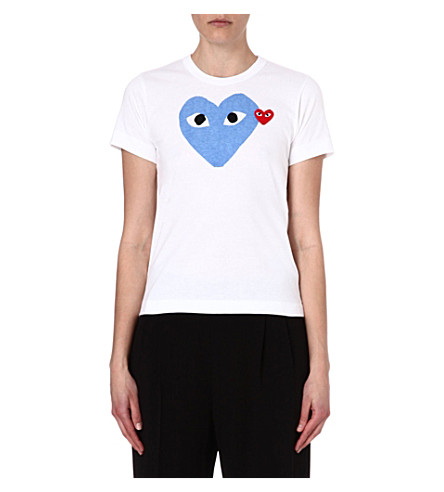 COMME DES GARCONS PLAY Heart logo t-shirt (Blue