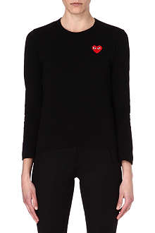 PLAY Heart motif long-sleeve top