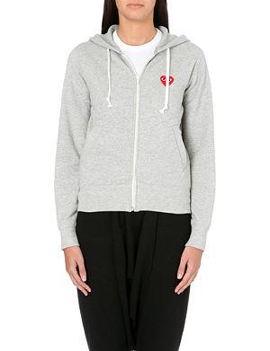 logo embroidered hoody - Grey Comme Des Garçons Wiki Sale Online DSrBYLWt