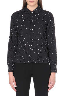 COMME DES GARCONS Peter Pan-collar embroidered shirt