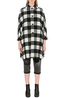 COMME DES GARCONS Checked wool-blend coat