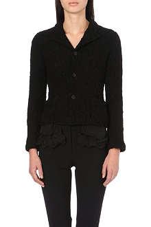 COMME DES GARCONS Ruffle-detail lace jacket