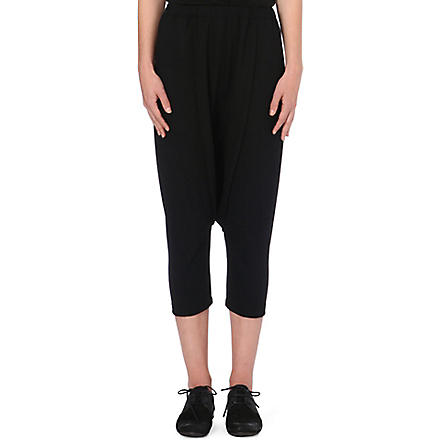 COMME DES GARCONS Dropped crotch wool trousers (Black