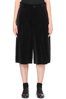 COMME DES GARCONS Cropped velvet trousers