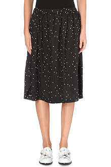 COMME DES GARCONS Embroidered dot detail midi-skirt